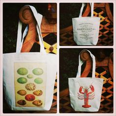 French market linen tote bags that I make with vintage style images! Pattycakes3688@yahoo.com
