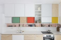 Colour-block kitchens by Dries Otten - cate st hill