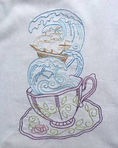 Tempest in a Teacup Embroidery - NEEDLEWORK