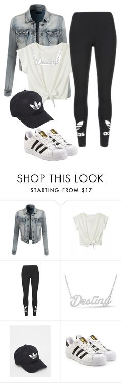 """""""Untitled #24"""" by bvbydest on Polyvore featuring LE3NO, adidas and adidas Originals"""
