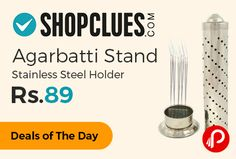 Shopclues #DealsofTheDay is offering 41% off on Agarbatti Stand Stainless Steel Holder at Rs.89 Only. http://www.paisebachaoindia.com/agarbatti-stand-stainless-steel-holder-at-rs-89-only-shopclues/