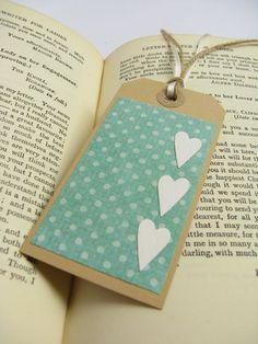 Mothers Day Gift Tags For Mom love aqua, polka dots and hearts all lined up!love aqua, polka dots and hearts all lined up! Paper Bookmarks, Handmade Gift Tags, Tutorial, Craft Gifts, Mother Day Gifts, Stampin Up, Aqua, Paper Crafts, Gift Wrapping
