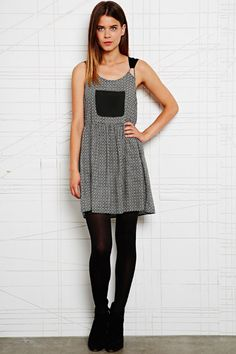Cooperative Contrast Pocket Pinafore Dress at Urban Outfitters