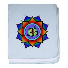 Rainbow Lotus | Rainbow Lotus Om baby blanket