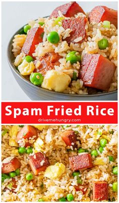 Spam Recipes, Vegan Recipes Easy, Rice Recipes, Pork Recipes, Cooking Recipes, Pork Meals, Cooking Ideas, Yummy Recipes, Best Side Dishes