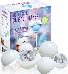 Ice Ball Maker - The Premium Set 4 Pack - Multi Size - Makes Two Large 2.5 Inch and Two Smaller 2 Inch Ice Spheres - Fits In All Size Glassware - Highest Quality Silicone Mold Set - Gift for Dad, Boyfriend, and Husband - Anniversary Gift for Him - Whiskey, Scotch Drinks and More The North Pole http://www.amazon.com/dp/B00KM2UWDG/ref=cm_sw_r_pi_dp_xOeSub07NDAR6