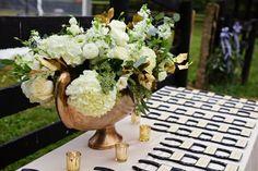 Horse shoe escort cards at Steven and Kiana's Hermitage Farm Wedding | Adele Reding Photography
