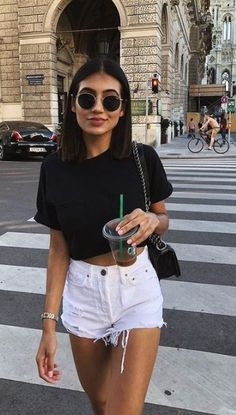 45 Perfect Outfits For Summer Break - Wass Sell Womens Fashion Casual Summer, Women's Summer Fashion, Look Fashion, 80s Fashion, Summer Fashions, Fashion Hair, French Fashion, Fashion 2020, Hijab Fashion