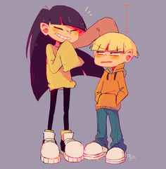 Kids next door Number 3 & 4. I always felt like the creators of the show perfectly captured what it was like to have a childhood crush by having Number 4 act disgusted with 3, but secretly have these confusing feelings for her that he didn't want to admit to.