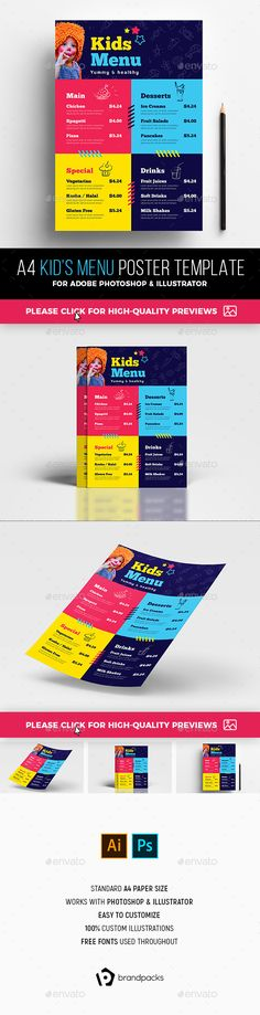 Kids Menu  Kids Menu Templates    Kids Menu And Menu