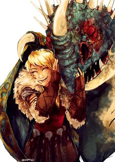 Astrid and Stormfly by Dreamsoffools on deviantART