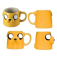 Home - Adventure Time Jake Face Molded 16 oz. Adventure Time, Coffee Cups, Tea Cups, Cup Decorating, Face Mold, Pretty Mugs, Cool Mugs, Drink Holder, Coffee Is Life