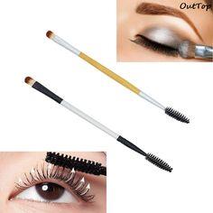 2017 Hot Makeup Brush Double-end Eyeshadow Eyelash Brush Applicator Makeup Cosmetic Tool pincel maquiagem  FEB21