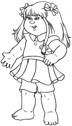 TimelessTrinketscom Cabbage Patch Kids Coloring Pages  Coloring