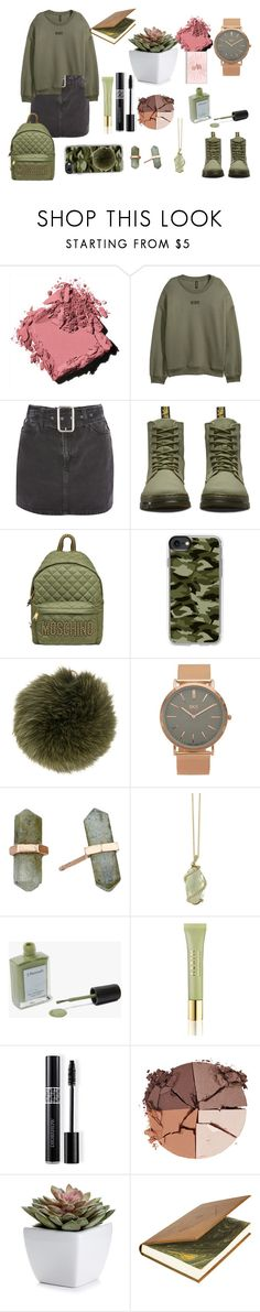 """""""Untitled #281"""" by mihaelamarula on Polyvore featuring Bobbi Brown Cosmetics, Topshop, Dr. Martens, Moschino, Casetify, Furla, BKE, Shashi, Effy Jewelry and J. Hannah"""