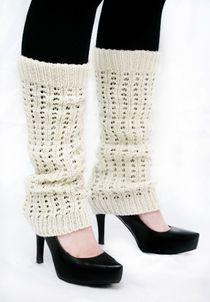 Knit -Säärystimet -Valkoinen Knit Socks, Knitting Socks, Crochet Leg Warmers, Mittens, Slippers, Legs, Fashion, Knitting And Crocheting, Winter Time