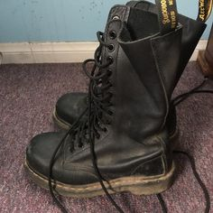 14 hole dr martens steel toe Dr Martens Steel Toe, Doc Martens, Combat Boots, Punk, Shoes, Things To Sell, Fashion, Moda, Zapatos