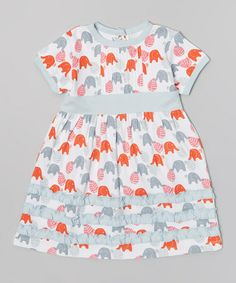 Look what I found on #zulily! Red Elephant Ruffle Organic Dress - Infant & Girls #zulilyfinds