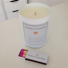 .@Candy Chavez-Parra | Andrea Schroder 'Peach Gardenia' candle. Obsessed with this line of candles! ...