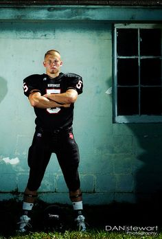 I love the idea of stealing someone else's football pads, and then posing like this. Strength