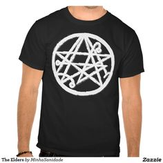 Cthulhu elder symbol t-shirt straight from the world of the horror fictional writer Lovecraft.