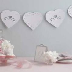We offer a unique range of Event Décor and hand-made Gifts online, with Secure Payment & Door to Door Delivery Countrywide! Paper Bunting, Online Gifts, Event Decor, Make It Simple, Valentines Day, Place Card Holders, Handmade Gifts, Unique, Wedding