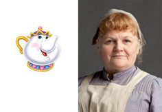 comparing the staff from Beauty and the Beast to the staff from Downton Abbey... surprisingly similar characters!