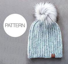 Beginner Hat Crochet Patterns – Pattern Tips - A More Crafty Life Ribbed Crochet, Easy Crochet Hat, Crochet Baby Shoes, Crochet Beanie, Crochet Ideas, Crochet Projects, Crochet Stitch, Crochet Patterns For Beginners, Knitting For Beginners