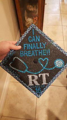 Respiratory therapy graduation cap