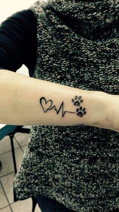 tattoo dog <3 #tatto#dog#zampette#tattocuore