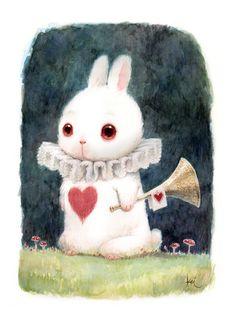 White Rabbit Trumpy by KEI ACEDERA at Arludik Gallery