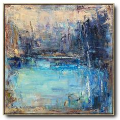 Abstract Landscape Oil Painting LX67A