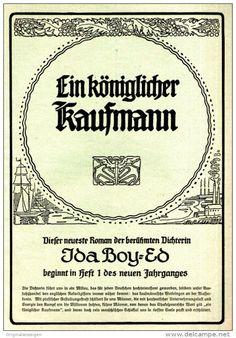 Original-Werbung/ Anzeige 1909 - 1/1 SEITE - IDA BOY-ED: EIN KÖNIGLICHER…