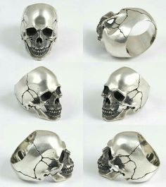 Gothic Jewelry Rings Rakuten: 2 real scull ring silver accessories ring sculls- Shopping Japanese products from Japan Skull Jewelry, Gothic Jewelry, Jewelry Rings, Gothic Clothing, Skull Rings, Silver Jewelry, Silver Skull Ring, Jewellery, Silver Earrings