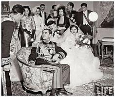 H.M. Mohamed Reza Pahlavi & His New Bride Empress Soraya , February 1951