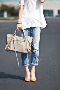 Cool in old loose fit jeansand baggy white shirt...