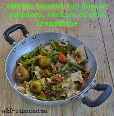 stracci toscani con verdure ed erbe aromatiche