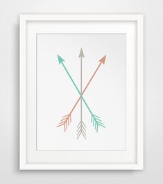 Hey, I found this really awesome Etsy listing at https://www.etsy.com/listing/191159436/arrow-wall-print-coral-mint-arrows-mint
