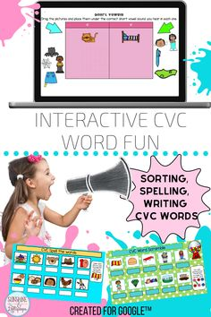 Who wouldn't have fun interacting with these fun CVC word activities for Google Classroom™? That's right! These are great to support decoding, reading, spelling