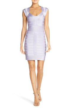 French Connection 'Miami Spotlight' Cap Sleeve Bandage Dress