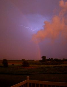 Crazy storm! June, 2011 from our deck in Waupun, WI.