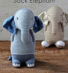 With this nice step-by-step sock plushie sewing tutorial you can learn how to sew this super adorable sock elephant! This is the perfect sewing project for recycle some old (half-pair) socks! The color of the ...
