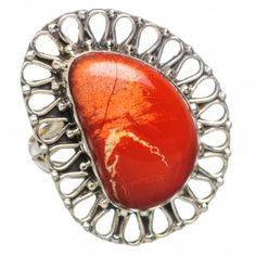 925 SOLID STERLING FINE SILVER  Large Mookaite RING