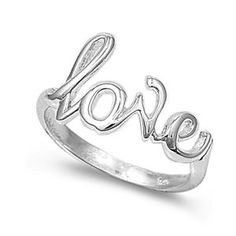 Sterling Silver 7mm Love Ring (Size 4 – 10)