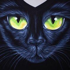 Cat Painted T Shirt