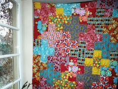 Cross pattern quilt via fadensinn