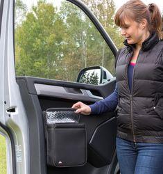 """MULTIBOX VW T6 for cabin door, design """"Leather Titanium Black"""" – Kombi Life"""