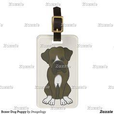 Boxer Dog Puppy Luggage Tag