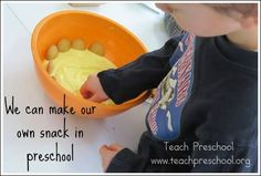 We can make our own snack by Teach Preschool