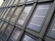 Geïntegreerde dakpan zonnepanelen Exterior Colors, Solar Energy, Blinds, New Homes, Construction, House, Home Decor, Google, Environment